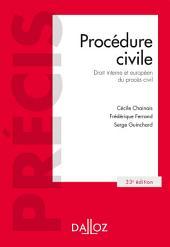 Procédure civile. Droit interne et droit de l'Union européenne
