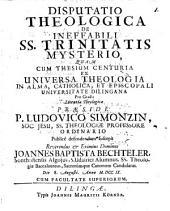 De Ineffabili SS. Trinitatis Mysterio