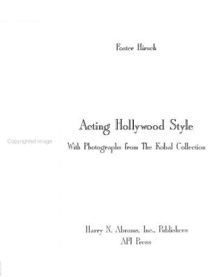 Acting Hollywood Style PDF