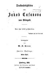 Denkwürdigkeiten und Abenteuer des Jacob Casanova von Seingalt: Band 11