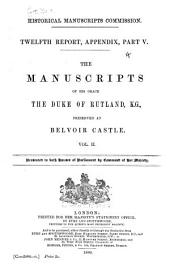 The Manuscripts of His Grace the Duke of Rutland...