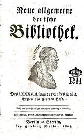 Neue allgemeine deutsche Bibliothek: Band 88