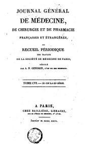 Journal général de médecine, de chirurgie et de pharmacie françaises et étrangères: Volume 45