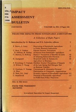 Projected Impacts from Sustainable Agriculture PDF