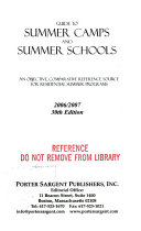 Guide to Summer Camps and Summer Schools 2006 2007 PDF