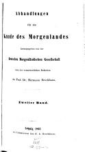 Abhandlungen f  r die Kunde des Morgenlandes PDF