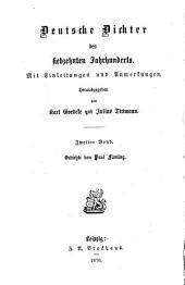Deutsche Dichter des siebzehnten Jahrhunderts: Mit Einleitungen und Anmerkungen, Band 2
