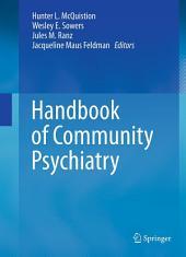 Handbook of Community Psychiatry