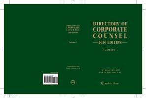 Directory of Corporate Counsel  2020 Edition  2 vols  PDF