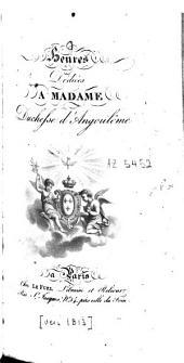 Heures Dédiées à Madame, Duchesse d'Angoulême