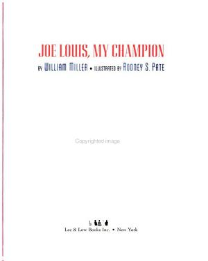 Joe Louis  My Champion