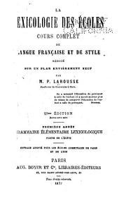 Grammaire élémentaire lexicologique