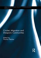 Cricket  Migration and Diasporic Communities PDF