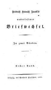 Auserlesener Briefwechsel: in zwei Bänden, Band 1