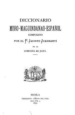 Diccionario moro maguindanao espa  ol PDF
