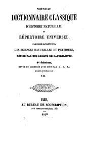 Nouveau dictionnaire classique d'histoire naturelle; ou, Répertoire universel des sciences naturelles et physiques: Volume41