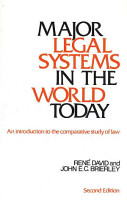 Major Legal Systems in the World Today PDF
