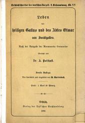 Leben des heiligen Gallus und des Abtes Otmar von Sanktgallen