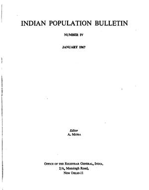 Indian Population Bulletin PDF