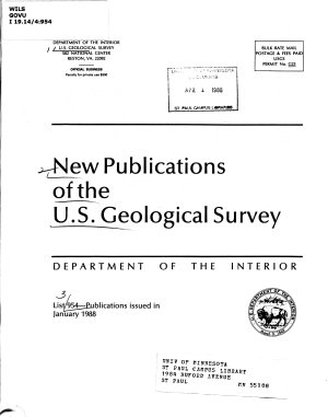 New Publications of the U S  Geological Survey PDF