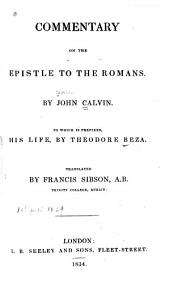 Commentary of the Epistle to the Romans