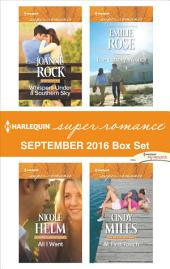 Harlequin Superromance September 2016 Box Set: Whispers Under a Southern Sky\All I Want\The Lottery Winner\At First Touch