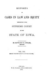 Reports of Cases in Law and Equity, Determined in the Supreme Court of the State of Iowa: Volume 37