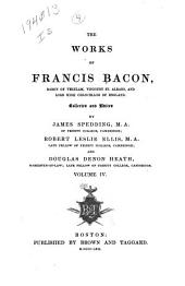 The Works of Francis Bacon ...