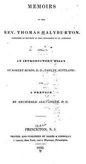 Memoirs of the Rev. Thomas Halyburton ...