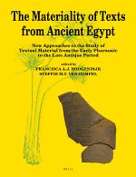 The Materiality of Texts from Ancient Egypt