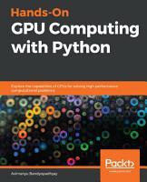 Hands On GPU Computing with Python PDF