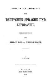 BEITRAGE ZUR GESCHICHTE DER DEUTSCHEN SPRACHE UND LITERATUR HERAUSGEGEBEN