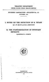 Hygienic Laboratory Bulletin
