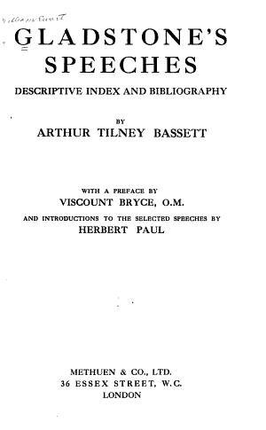 Gladstone s Speeches PDF