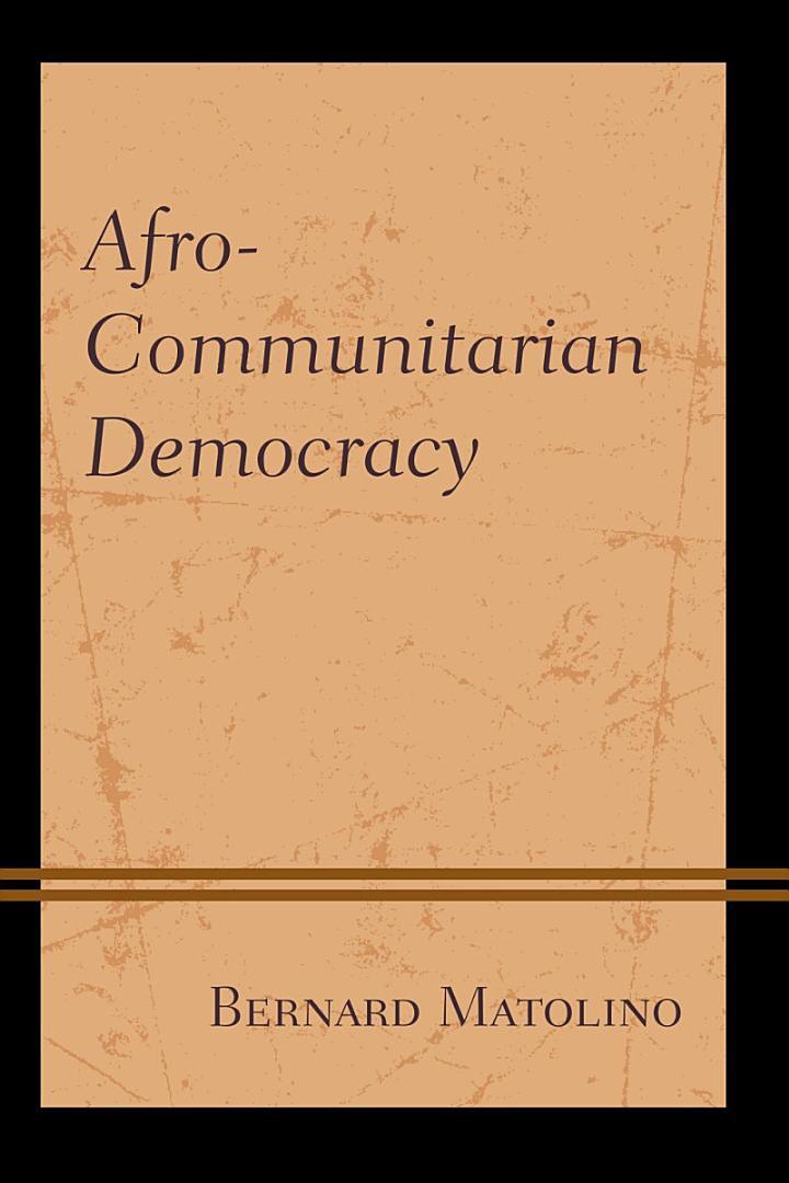 Afro-Communitarian Democracy