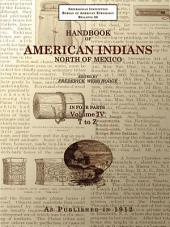 Handbook of American Indians North of Mexico Volume 4/4 T-Z