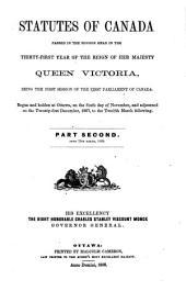 Statutes of Canada: Part 2