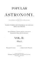 Popular Astronomy: Volume 2; Volumes 1894-1895