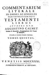 Commentarium literale in omnes ac singulos tum Veteris cum Novi Testamenti libros