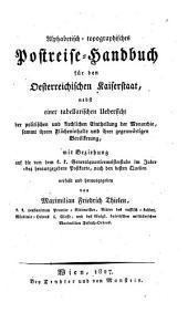 Alphabetisch-topographisches Postreise-Handbuch für den österr. Kaiserstaat