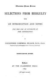 Selections from Berkeley: With an Introduction and Notes, for the Use of Students in the Universities