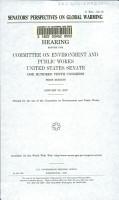 Senators  Perspectives on Global Warming PDF