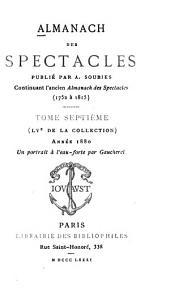 Almanach des spectacles: Volumes7à8
