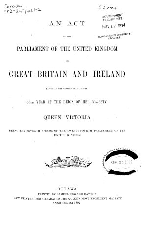 Acts of the Parliament of the United Kingdom of Great Britain and Ireland