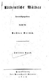 Altdeutsche Wälder: Band 2