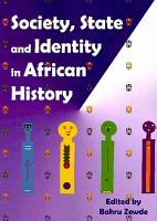 Society  State  and Identity in African History PDF