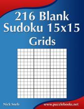 216 Blank Sudoku 15x15 Grids