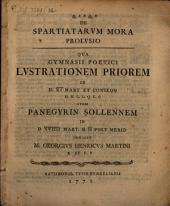 De Spartiatarum mora prolusio