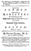 The Advantages and Obligations Arising from the Oracles of God Committed to the Church and Its Ministry  Represented in a Sermon Preached Before the Ministers of the Province of the Massachusetts Bay     at Their Annual Convention in Boston  Etc PDF