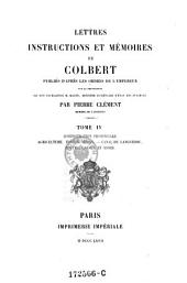 Administration provinciale. Agriculture, forèts, Haras: Volume 4